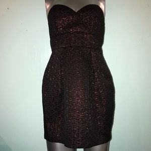 BCBG Strapless empire waist mini dress